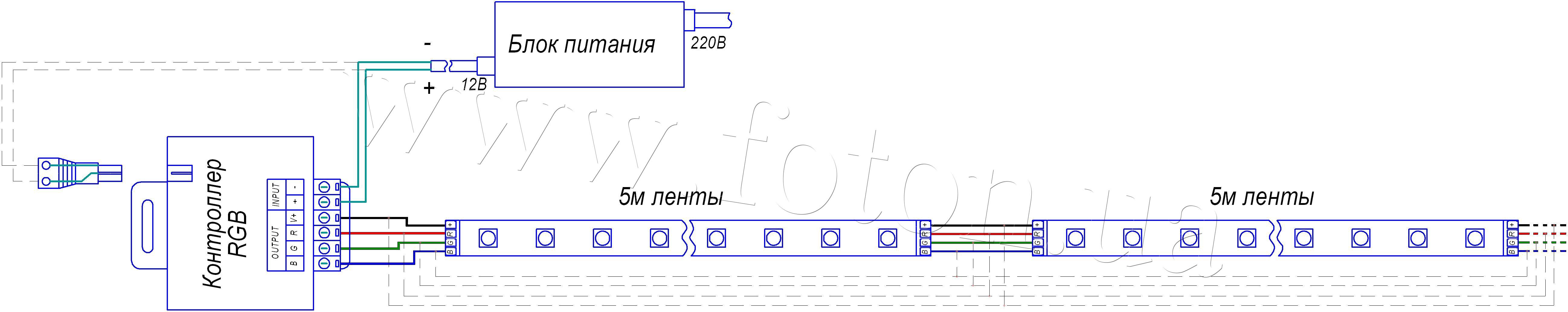 Схема для подсветки выключателя 220в светодиодом