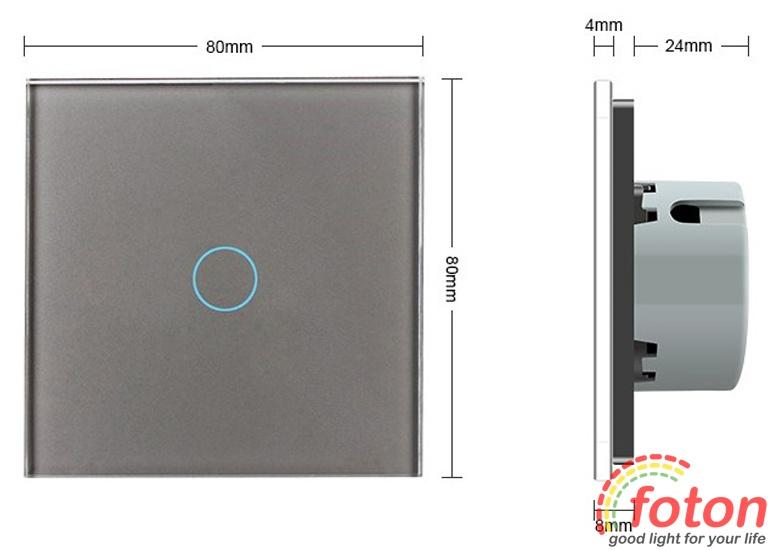 6a49a052efee Сенсорный выключатель Livolo One touch Gray купить