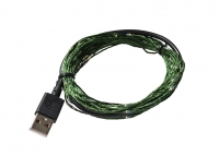 LED USB Garland Soft String, 100pcs, IP67 Green Cable