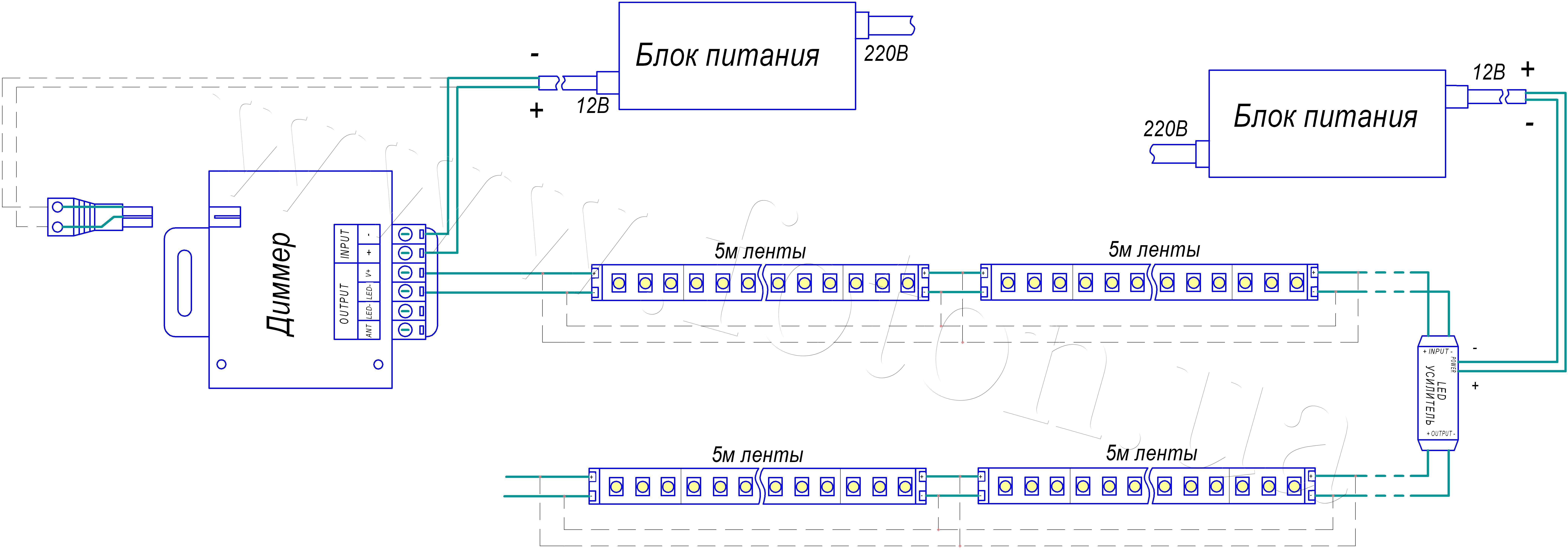 Схема управления rgb светодиодами фото 43