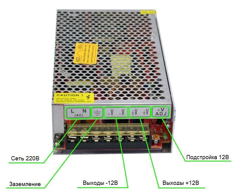 Блоку по инструкция светодиодов подключению к питания компьютера